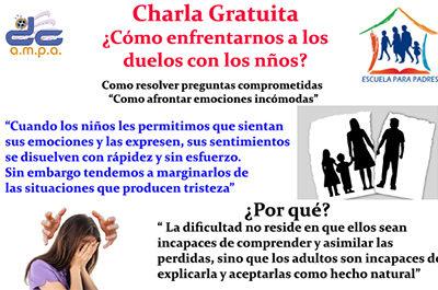 Charla gratuita para familias – Duelos.